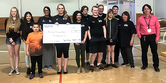 941170d44ef Students from the Byron-Bergen Builder s Club presented a check for  500 to  support the Rochester Regional Health Chemical Dependency Program.