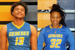 17a770ffb Brandon Speller (L) and Grace McComb (R) named Genesee Athletes of the Week  for the Week of February 11 – Genesee Athletics